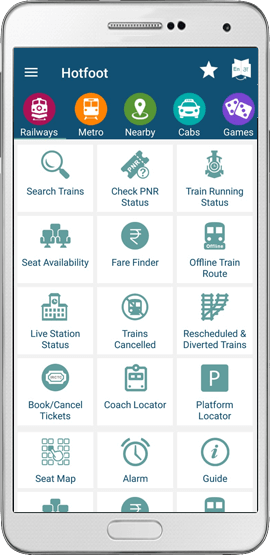 Hotfoot App for Trains Metro Cabs